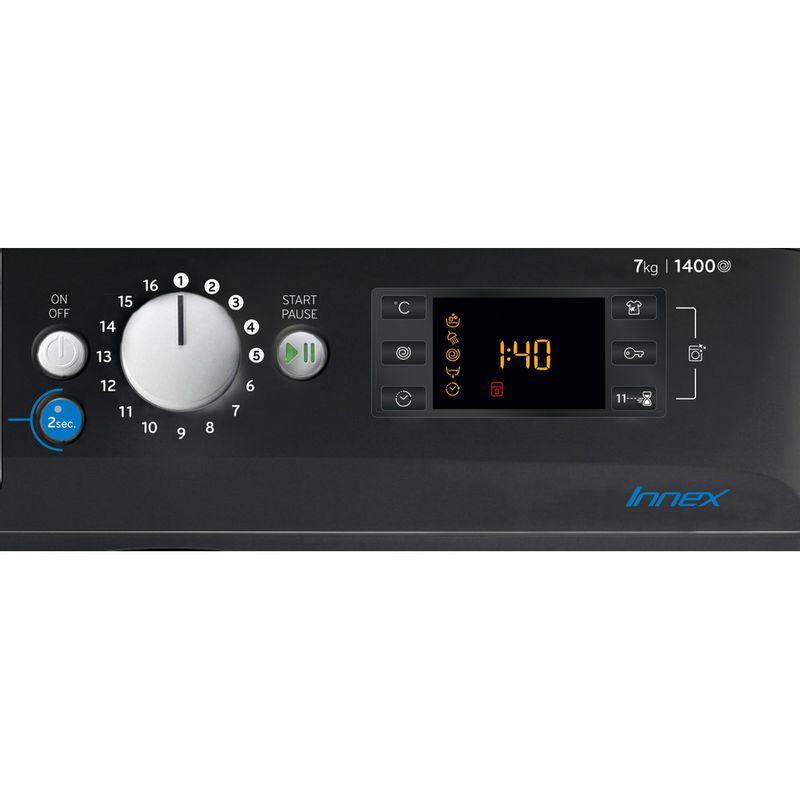 Indesit-Washing-machine-Free-standing-BWE-71452-K-UK-N-Black-Front-loader-E-Control-panel