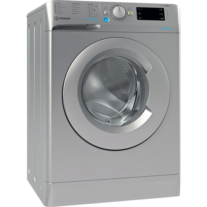 Indesit-Washing-machine-Free-standing-BWE-71452-S-UK-N-Silver-Front-loader-E-Perspective
