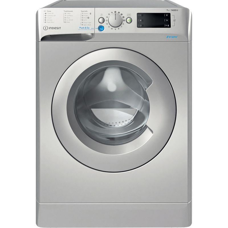 Indesit-Washing-machine-Free-standing-BWE-71452-S-UK-N-Silver-Front-loader-E-Frontal