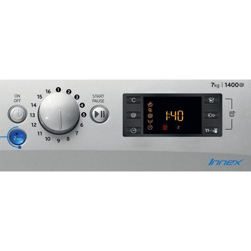 Indesit-Washing-machine-Free-standing-BWE-71452-S-UK-N-Silver-Front-loader-E-Control-panel