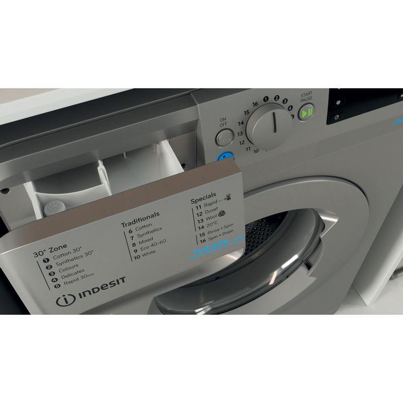 Indesit-Washing-machine-Free-standing-BWE-71452-S-UK-N-Silver-Front-loader-E-Drawer