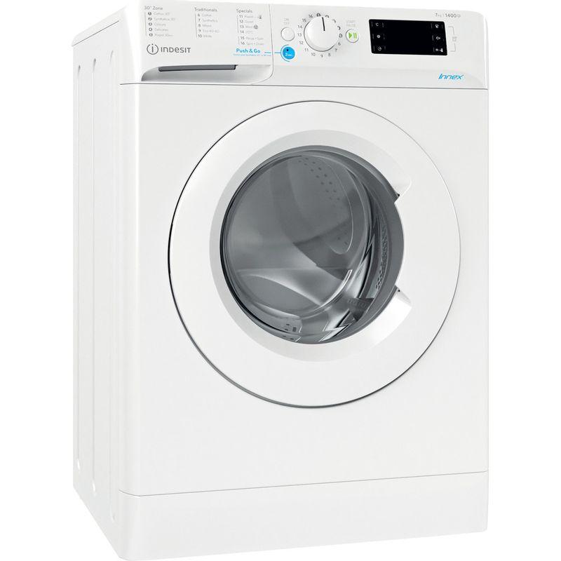 Indesit-Washing-machine-Free-standing-BWE-71452-W-UK-N-White-Front-loader-E-Perspective