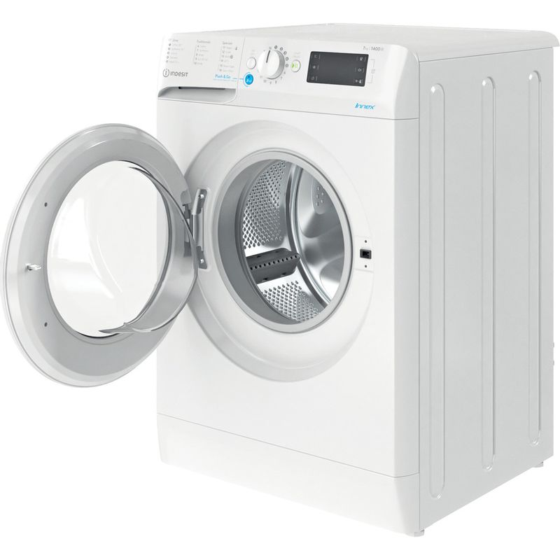 Indesit-Washing-machine-Free-standing-BWE-71452-W-UK-N-White-Front-loader-E-Perspective-open