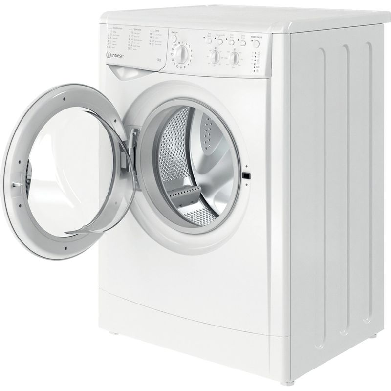 Indesit-Washing-machine-Free-standing-IWC-71452-W-UK-N-White-Front-loader-E-Perspective-open