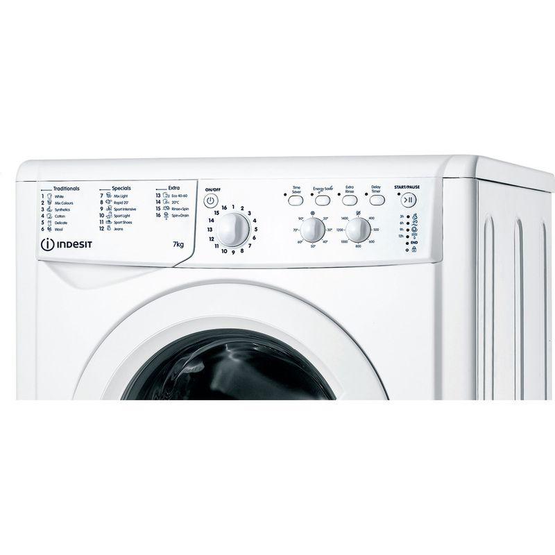 Indesit-Washing-machine-Free-standing-IWC-71452-W-UK-N-White-Front-loader-E-Control-panel