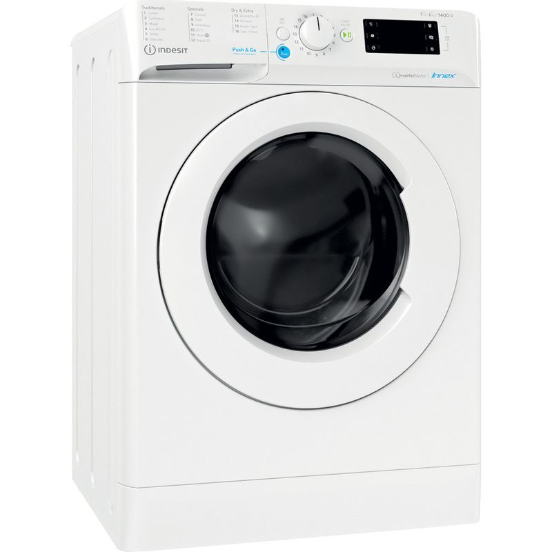 Indesit-Washer-dryer-Free-standing-BDE-961483X-W-UK-N-White-Front-loader-Perspective