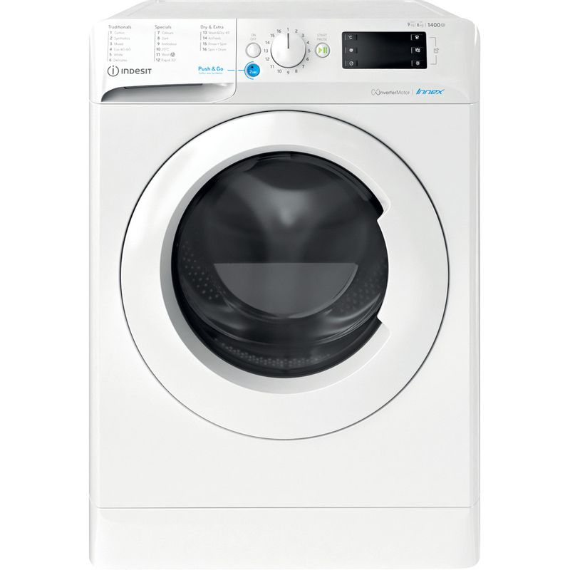Indesit-Washer-dryer-Free-standing-BDE-961483X-W-UK-N-White-Front-loader-Frontal