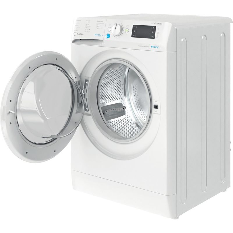 Indesit-Washer-dryer-Free-standing-BDE-961483X-W-UK-N-White-Front-loader-Perspective-open