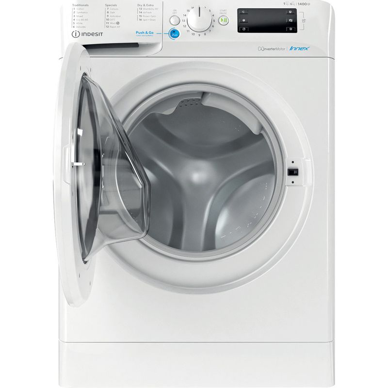 Indesit-Washer-dryer-Free-standing-BDE-961483X-W-UK-N-White-Front-loader-Frontal-open