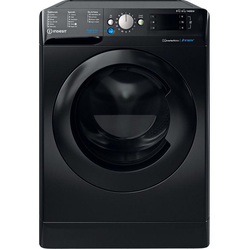 Indesit-Washer-dryer-Free-standing-BDE-861483X-K-UK-N-Black-Front-loader-Frontal