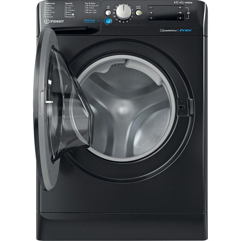Indesit-Washer-dryer-Free-standing-BDE-861483X-K-UK-N-Black-Front-loader-Frontal-open