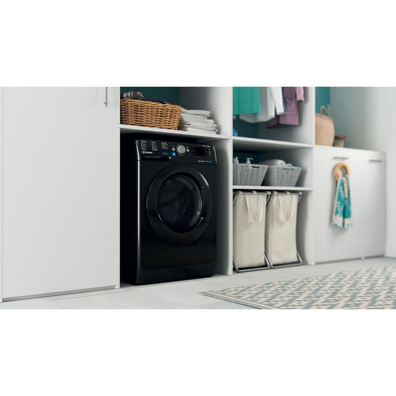 Indesit-Washer-dryer-Free-standing-BDE-861483X-K-UK-N-Black-Front-loader-Lifestyle-perspective