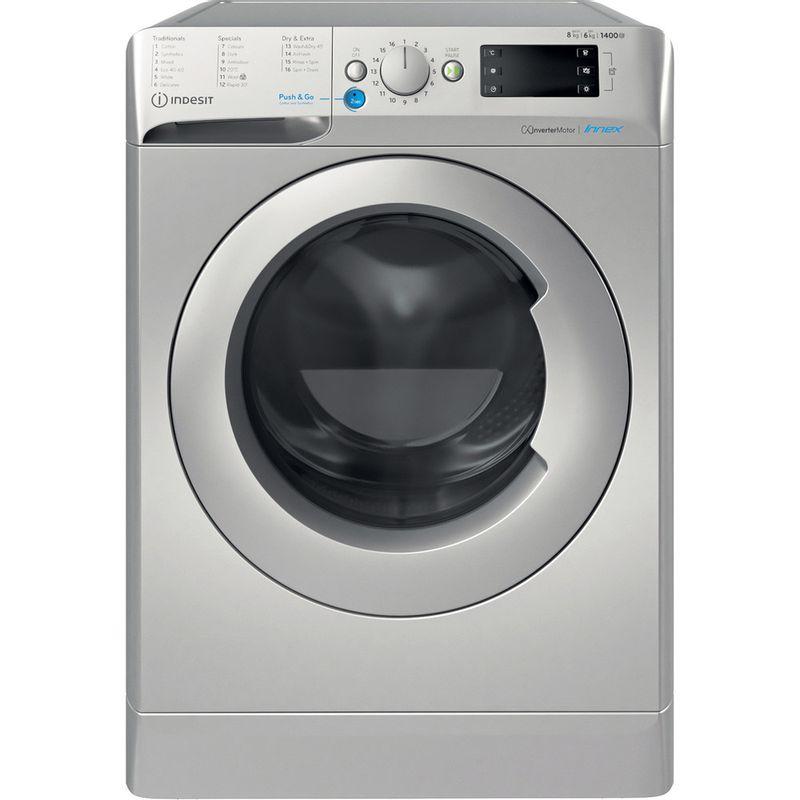 Indesit-Washer-dryer-Free-standing-BDE-861483X-S-UK-N-Silver-Front-loader-Frontal