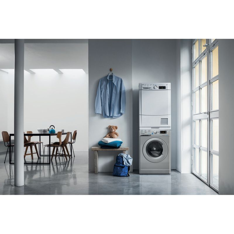 Indesit-Washer-dryer-Free-standing-BDE-861483X-S-UK-N-Silver-Front-loader-Lifestyle-frontal