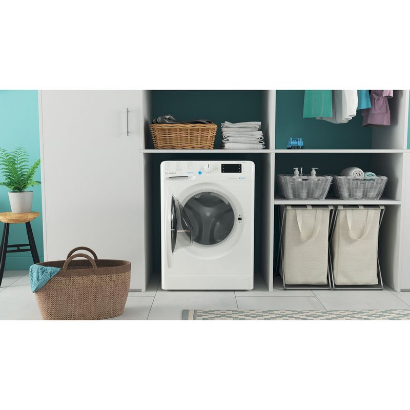 Indesit-Washer-dryer-Free-standing-BDE-861483X-W-UK-N-White-Front-loader-Lifestyle-frontal-open