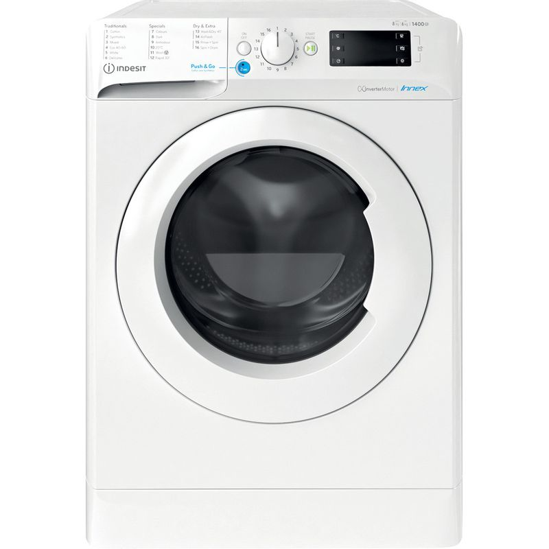 Indesit-Washer-dryer-Free-standing-BDE-861483X-W-UK-N-White-Front-loader-Frontal