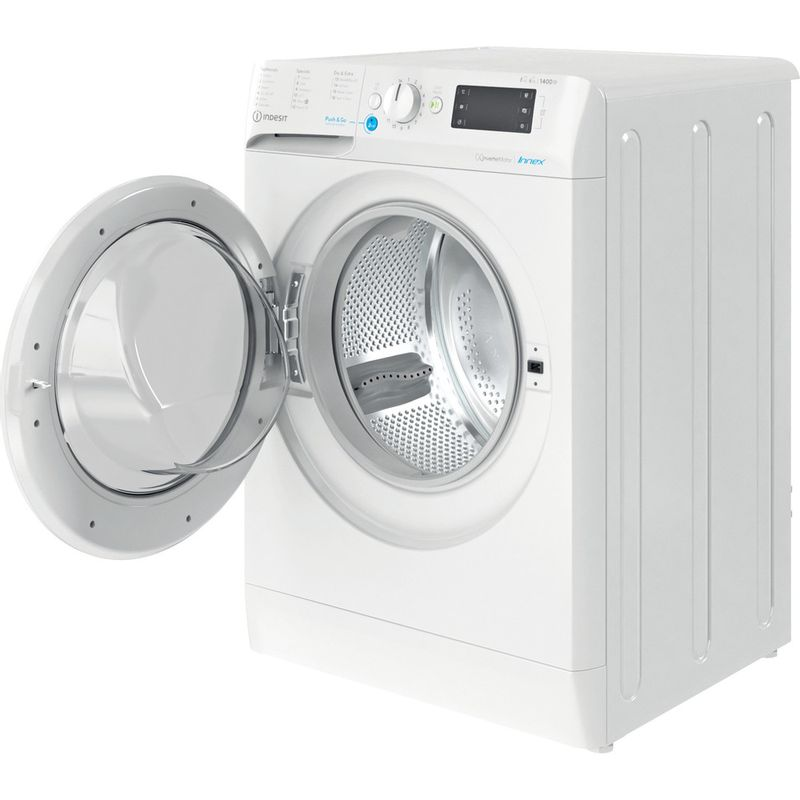 Indesit-Washer-dryer-Free-standing-BDE-861483X-W-UK-N-White-Front-loader-Perspective-open