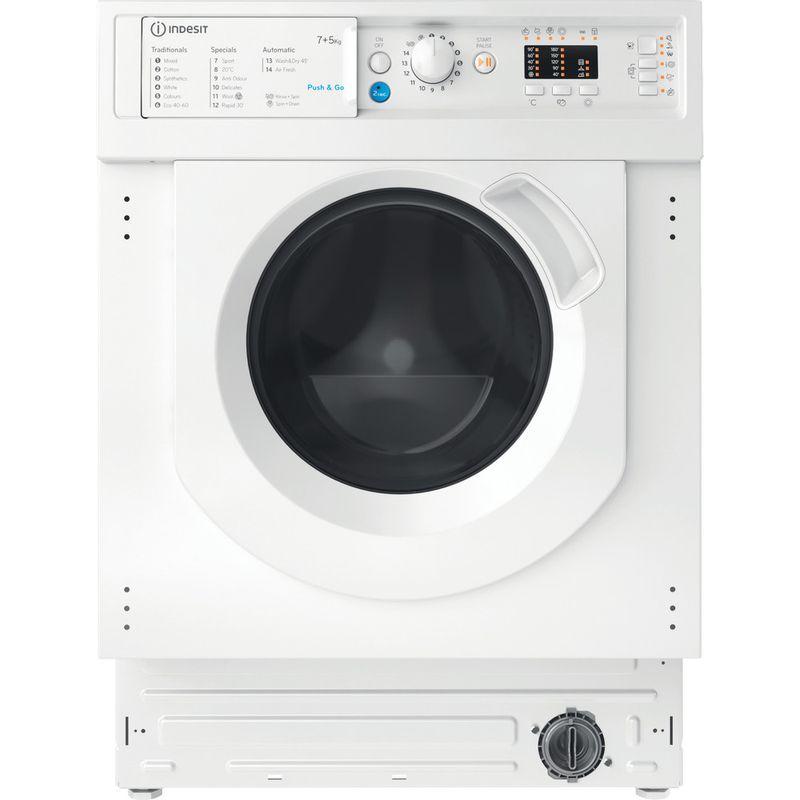 Indesit-Washer-dryer-Built-in-BI-WDIL-75125-UK-N-White-Front-loader-Frontal