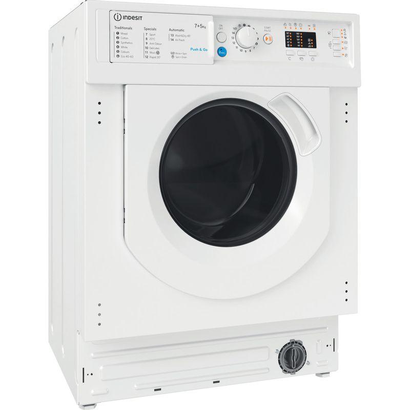 Indesit-Washer-dryer-Built-in-BI-WDIL-75125-UK-N-White-Front-loader-Perspective