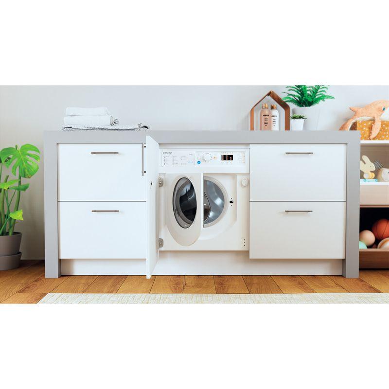 Indesit-Washer-dryer-Built-in-BI-WDIL-75125-UK-N-White-Front-loader-Lifestyle-frontal-open