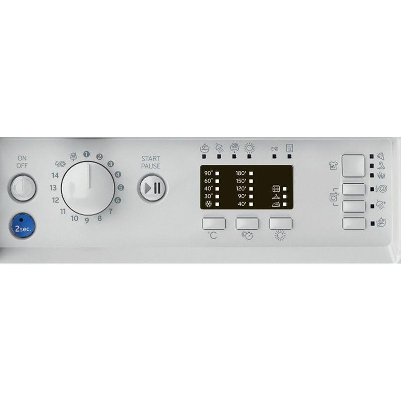 Indesit-Washer-dryer-Built-in-BI-WDIL-75125-UK-N-White-Front-loader-Control-panel
