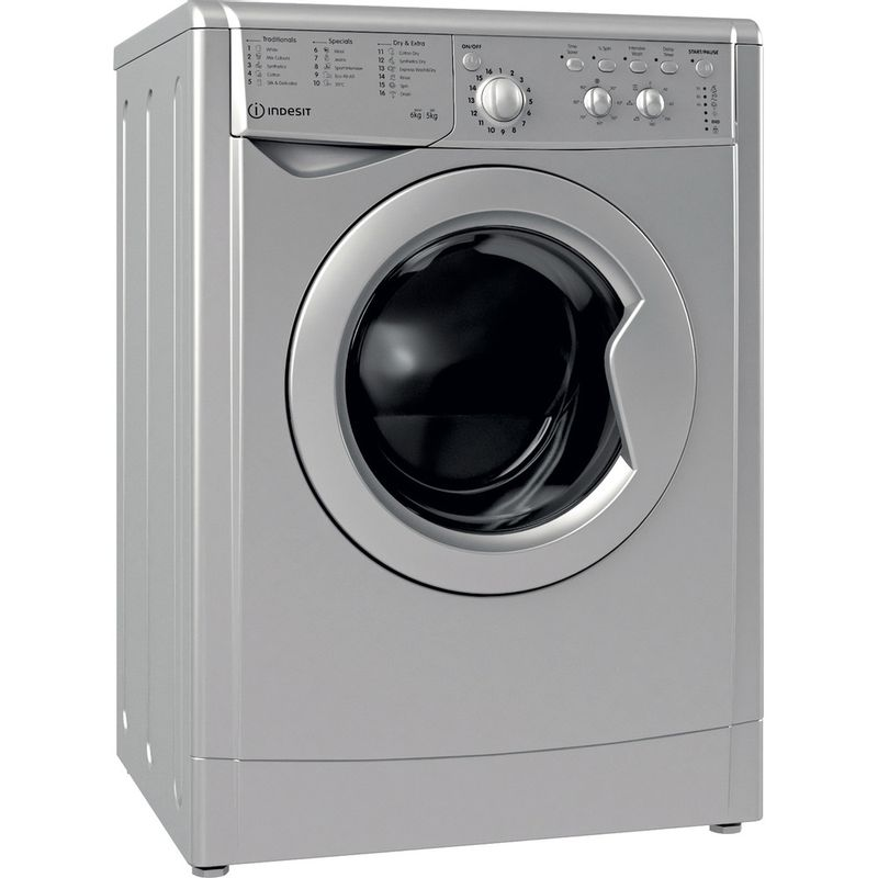 Indesit-Washer-dryer-Free-standing-IWDC-65125-S-UK-N-Silver-Front-loader-Perspective