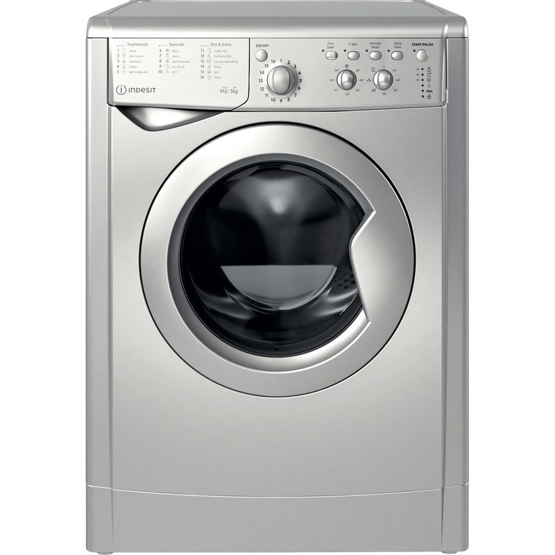 Indesit-Washer-dryer-Free-standing-IWDC-65125-S-UK-N-Silver-Front-loader-Frontal