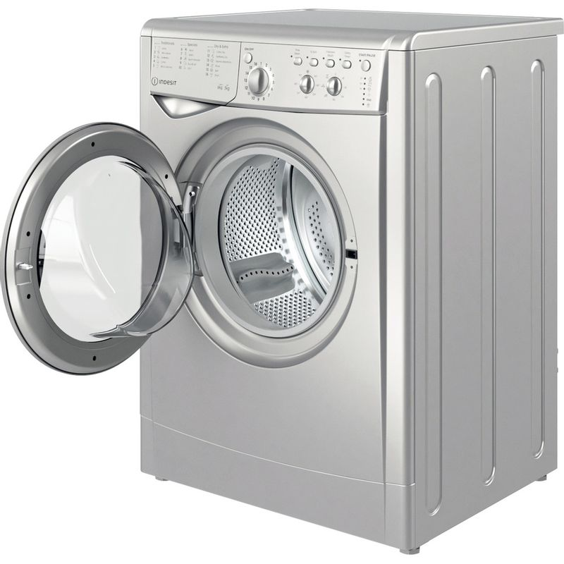 Indesit-Washer-dryer-Free-standing-IWDC-65125-S-UK-N-Silver-Front-loader-Perspective-open