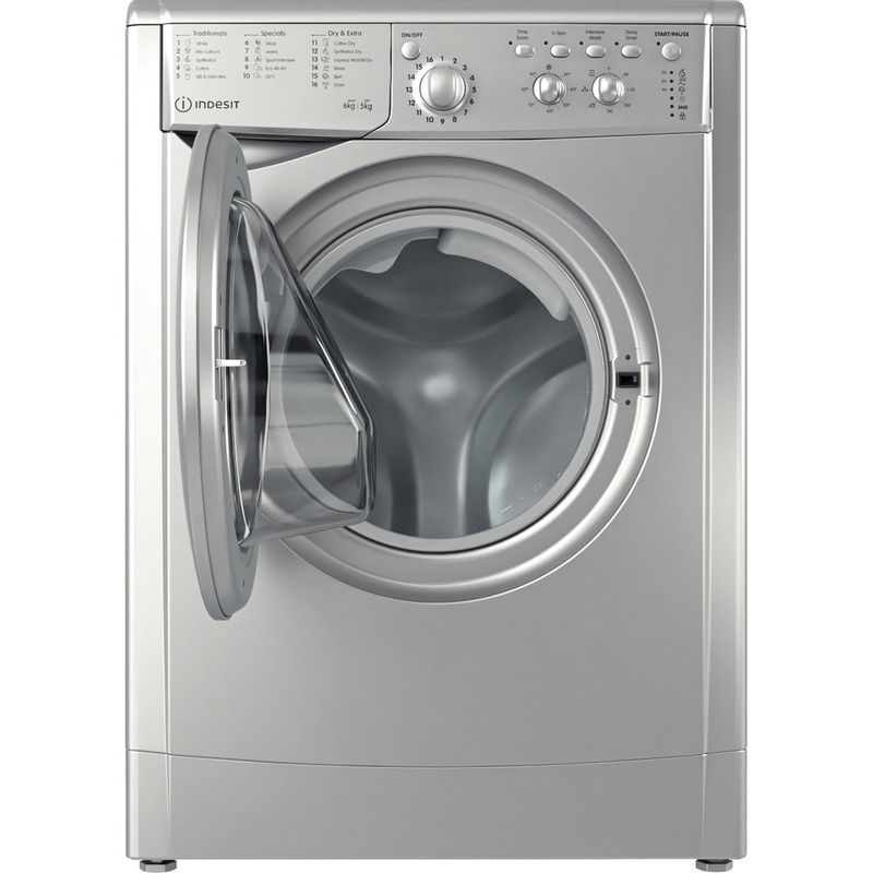 Indesit-Washer-dryer-Free-standing-IWDC-65125-S-UK-N-Silver-Front-loader-Frontal-open