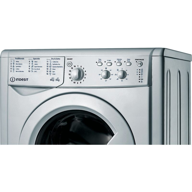 Indesit-Washer-dryer-Free-standing-IWDC-65125-S-UK-N-Silver-Front-loader-Control-panel