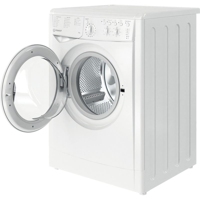 Indesit-Washing-machine-Free-standing-IWC-81483-W-UK-N-White-Front-loader-D-Perspective-open