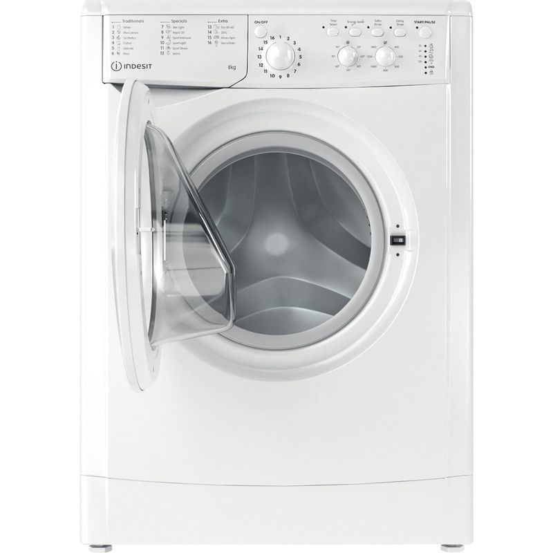 Indesit-Washing-machine-Free-standing-IWC-81483-W-UK-N-White-Front-loader-D-Frontal-open