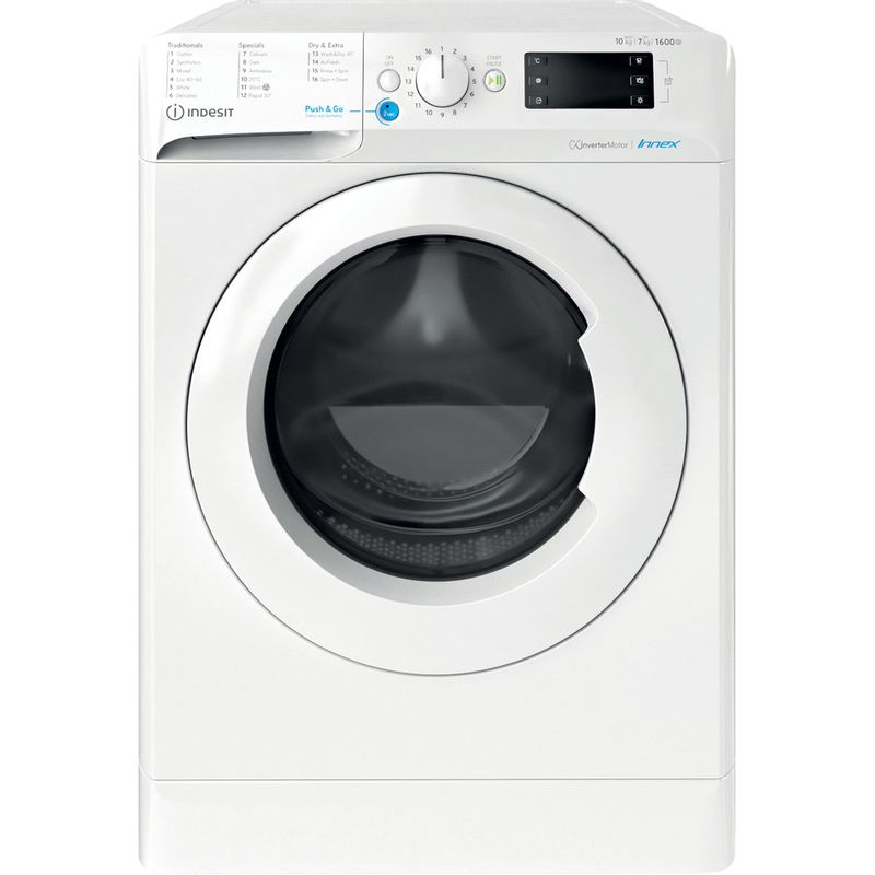 Indesit-Washer-dryer-Free-standing-BDE-1071682X-W-UK-N-White-Front-loader-Frontal