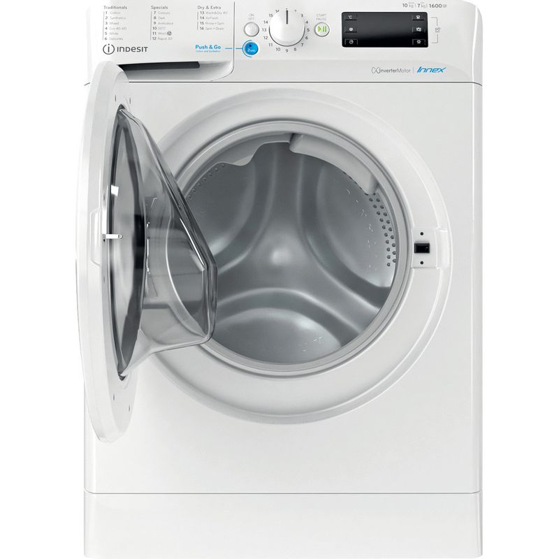 Indesit-Washer-dryer-Free-standing-BDE-1071682X-W-UK-N-White-Front-loader-Frontal-open