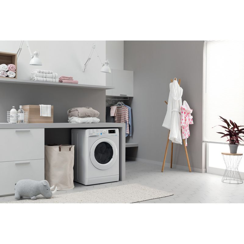 Indesit-Washer-dryer-Free-standing-BDE-1071682X-W-UK-N-White-Front-loader-Lifestyle-perspective