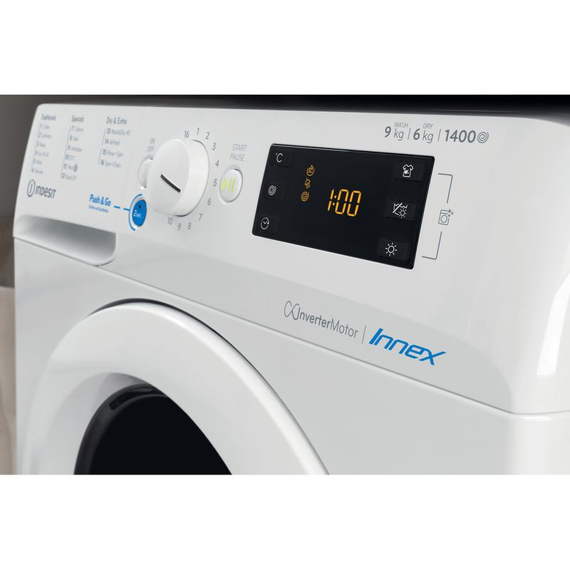 Indesit-Washer-dryer-Free-standing-BDE-1071682X-W-UK-N-White-Front-loader-Lifestyle-control-panel