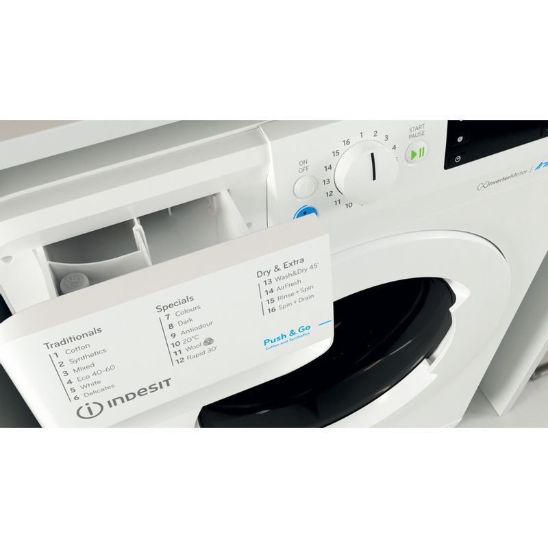 Indesit-Washer-dryer-Free-standing-BDE-1071682X-W-UK-N-White-Front-loader-Drawer