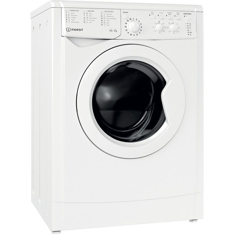 Indesit-Washer-dryer-Free-standing-IWDC-65125-UK-N-White-Front-loader-Perspective