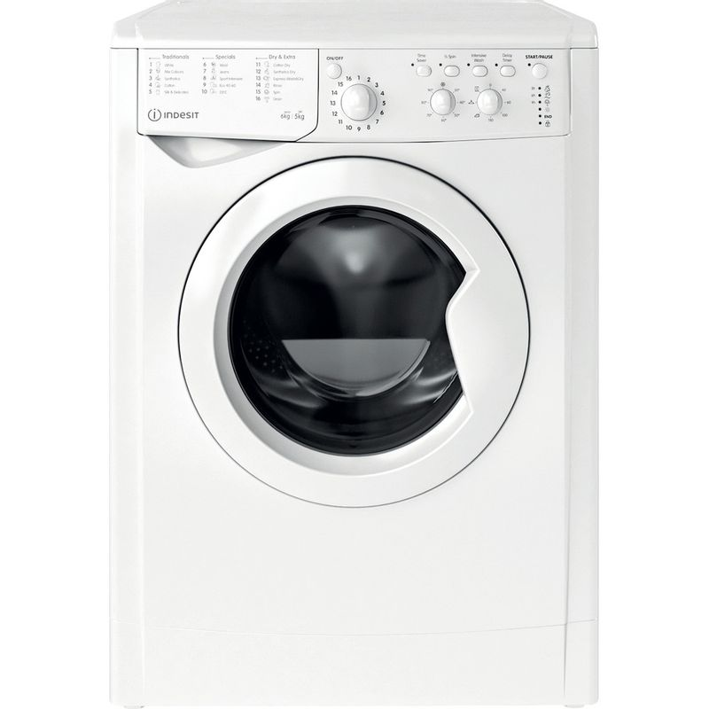 Indesit-Washer-dryer-Free-standing-IWDC-65125-UK-N-White-Front-loader-Frontal