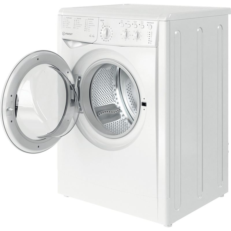 Indesit-Washer-dryer-Free-standing-IWDC-65125-UK-N-White-Front-loader-Perspective-open