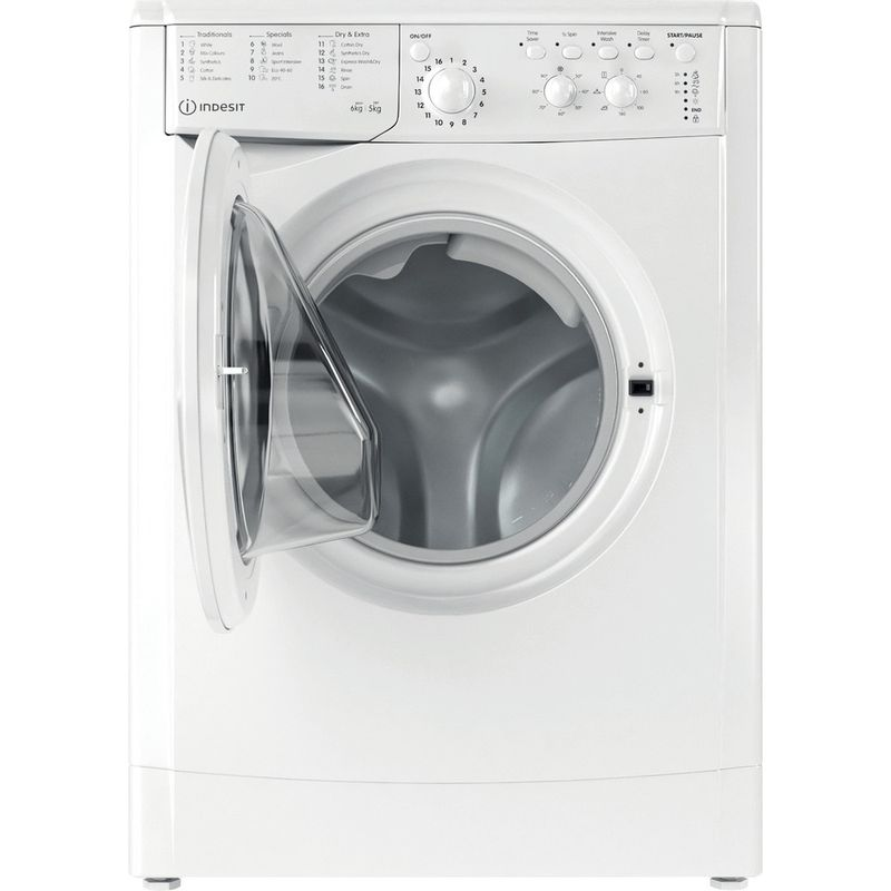 Indesit-Washer-dryer-Free-standing-IWDC-65125-UK-N-White-Front-loader-Frontal-open