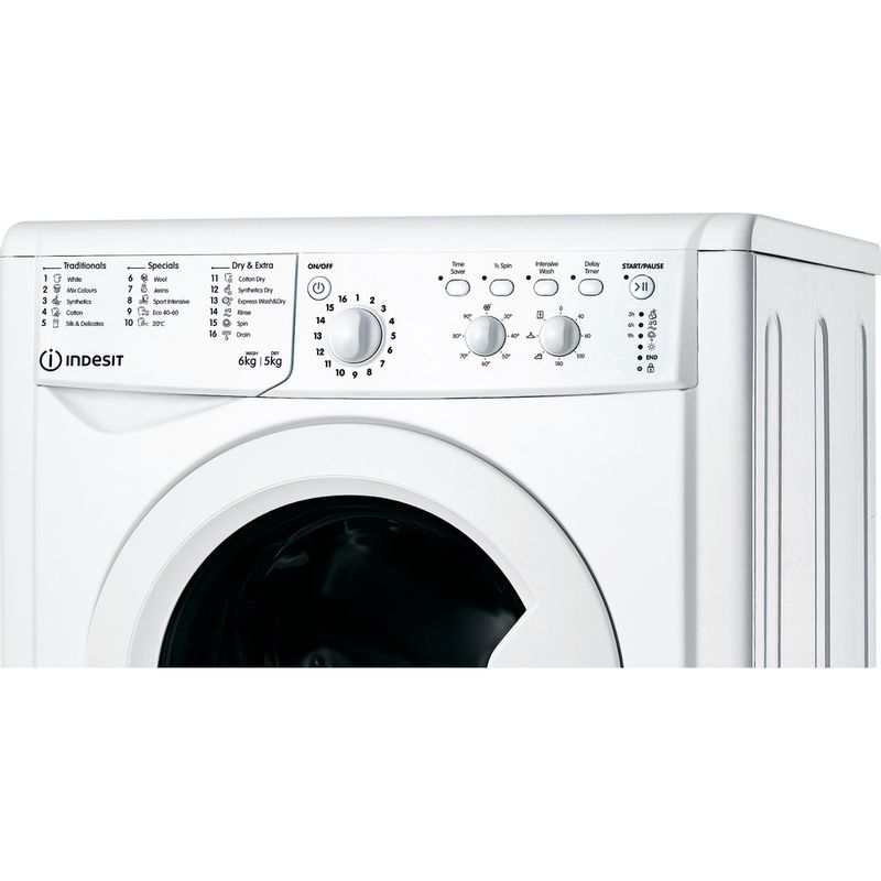 Indesit-Washer-dryer-Free-standing-IWDC-65125-UK-N-White-Front-loader-Control-panel