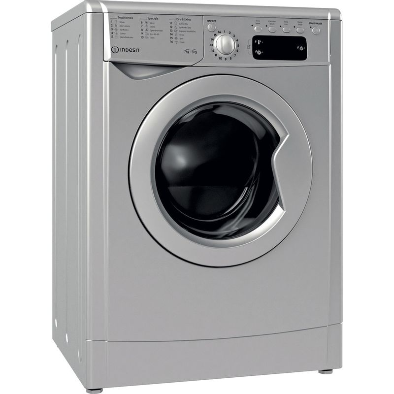 Indesit-Washer-dryer-Free-standing-IWDD-75145-S-UK-N-Silver-Front-loader-Perspective