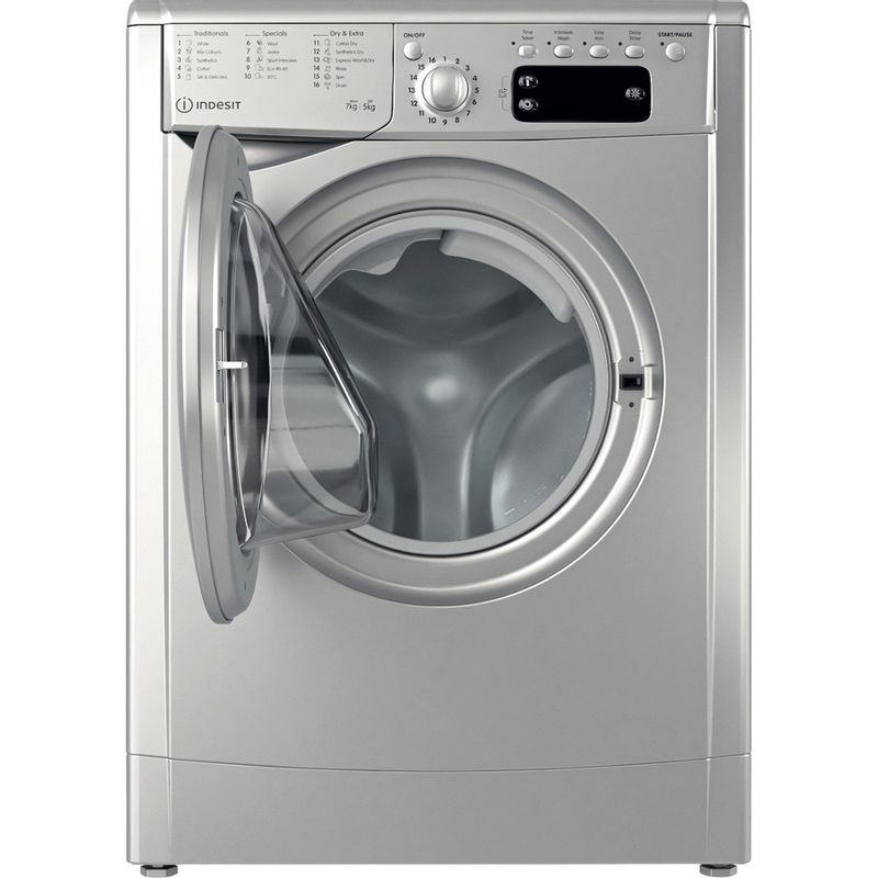 Indesit-Washer-dryer-Free-standing-IWDD-75145-S-UK-N-Silver-Front-loader-Frontal-open
