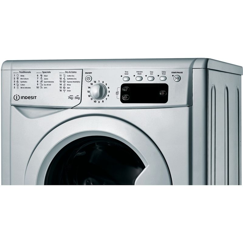 Indesit-Washer-dryer-Free-standing-IWDD-75145-S-UK-N-Silver-Front-loader-Control-panel