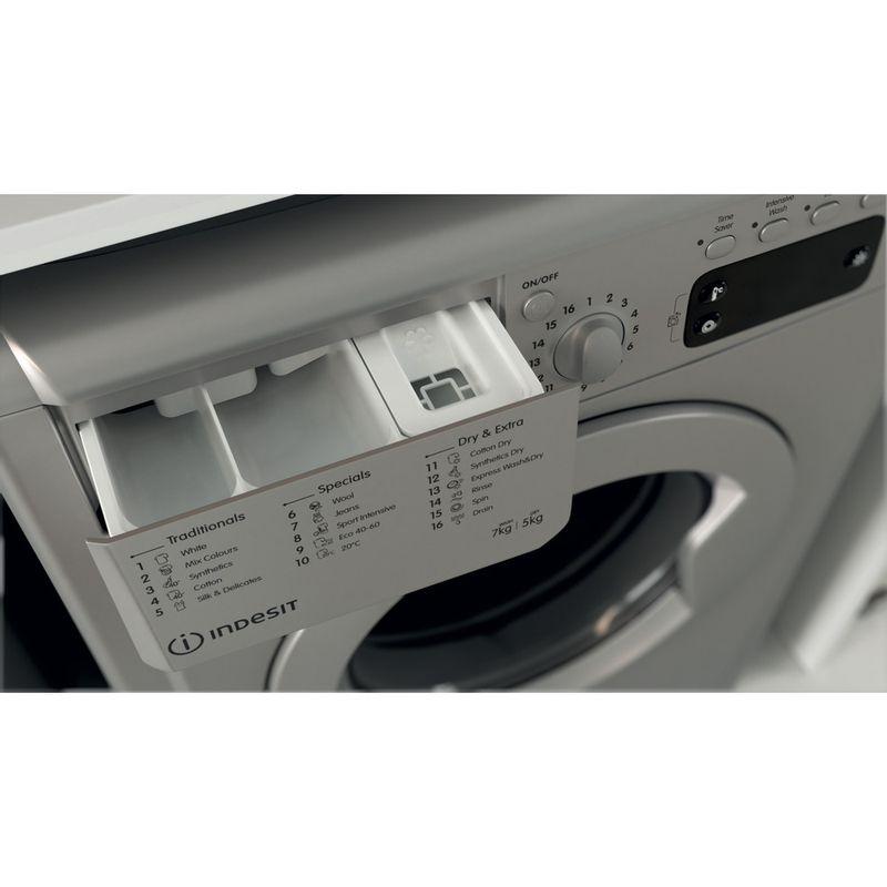 Indesit-Washer-dryer-Free-standing-IWDD-75145-S-UK-N-Silver-Front-loader-Drawer