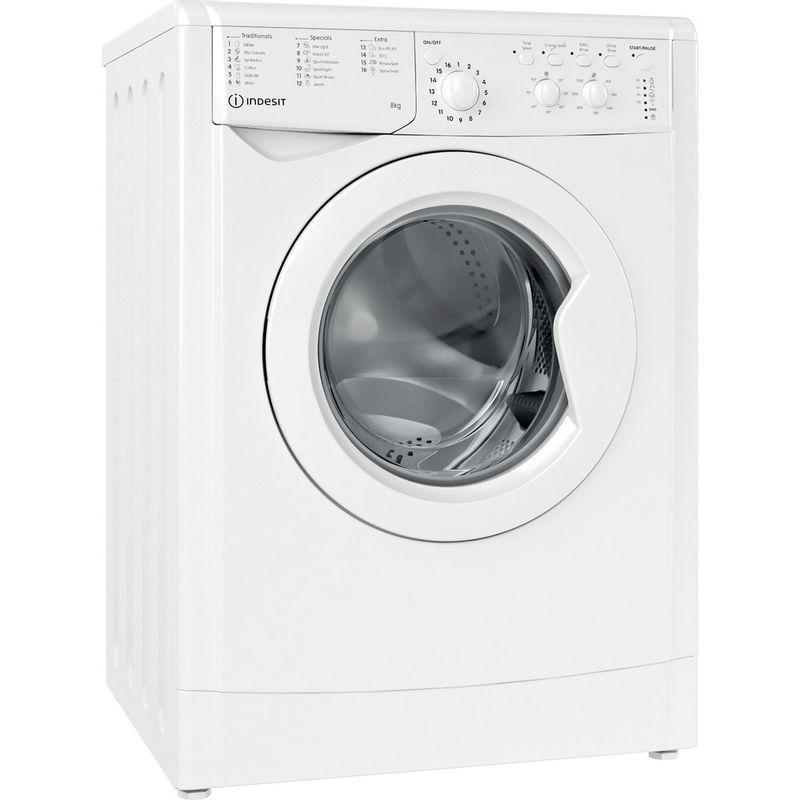 Indesit-Washing-machine-Free-standing-IWC-81251-W-UK-N-White-Front-loader-F-Perspective