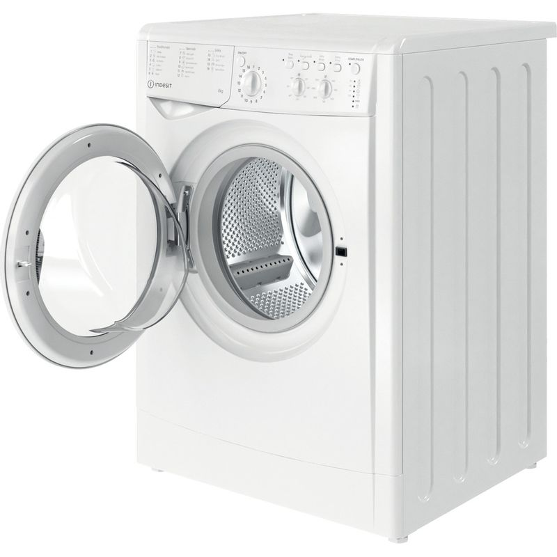 Indesit-Washing-machine-Free-standing-IWC-81251-W-UK-N-White-Front-loader-F-Perspective-open