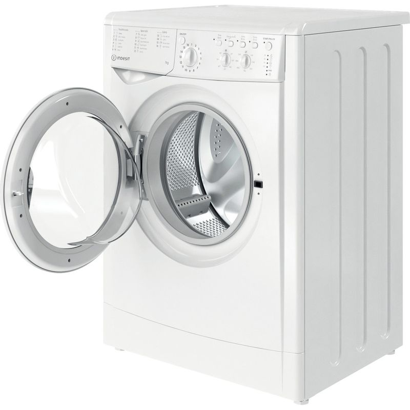 Indesit-Washing-machine-Free-standing-IWC-71252-W-UK-N-White-Front-loader-E-Perspective-open