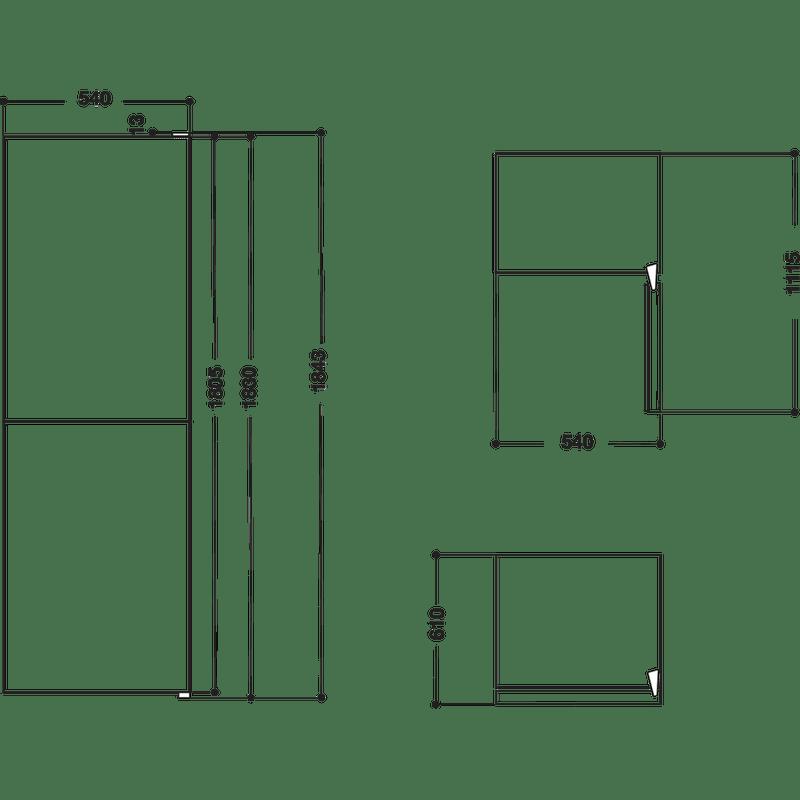 Indesit-Fridge-Freezer-Free-standing-IBNF-55181-W-UK-1-White-2-doors-Technical-drawing